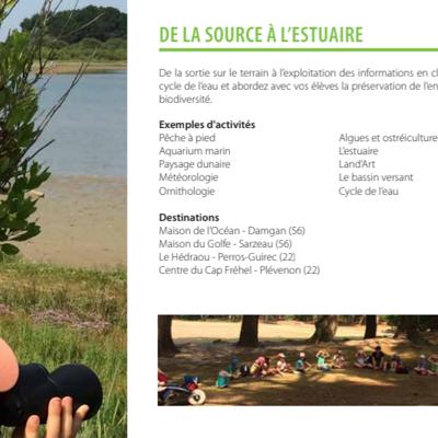 Ateliers scolaires à Perros-Guirec et Fréhel : De la source à l''estuaire
