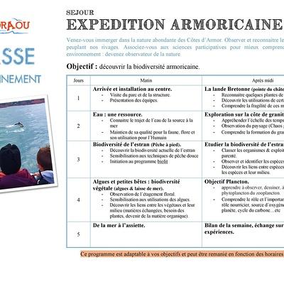 Classe environnement -Expédition armoricaine